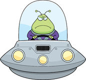 Angry Cartoon Alien UFO Stock Photo