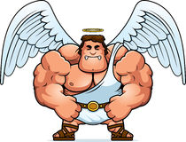 Angry Cartoon Angel Stock Image