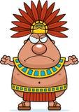 Angry Cartoon Aztec King Stock Image