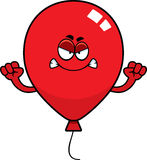 Angry Cartoon Balloon. A cartoon illustration of a balloon looking angry Stock Photo