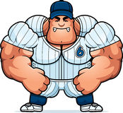 Angry Cartoon Baseball Player Royalty Free Stock Photography