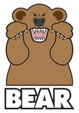 Angry Cartoon Bear Royalty Free Stock Images