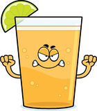 Angry Cartoon Beer with Lime Stock Images