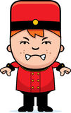 Angry Cartoon Bellhop Royalty Free Stock Image