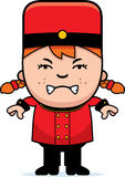 Angry Cartoon Bellhop Stock Photo