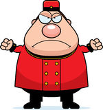 Angry Cartoon Bellhop Stock Photography