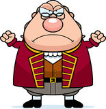 Angry Cartoon Ben Franklin Royalty Free Stock Photos
