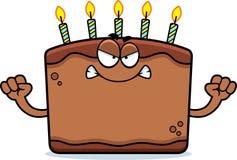 Angry Cartoon Birthday Cake Stock Image