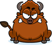 Angry Cartoon Bison Stock Images
