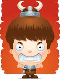 Angry Cartoon Boy Barbarian. A cartoon illustration of a boy barbarian with an angry expression Royalty Free Stock Photo