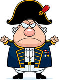 Angry Cartoon British Admiral Royalty Free Stock Photography