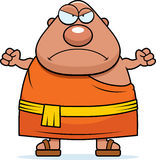Angry Cartoon Buddhist Monk Stock Photography