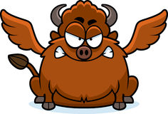 Angry Cartoon Buffalo Wings Royalty Free Stock Images