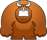 Angry Cartoon Bull Stock Images