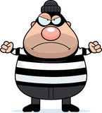 Angry Cartoon Burglar. A cartoon illustration of a burglar looking angry Royalty Free Stock Image