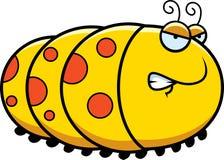 Angry Cartoon Caterpillar Stock Image