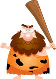 Angry Cartoon Caveman Royalty Free Stock Photography
