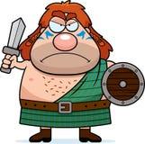Angry Cartoon Celtic Warrior royalty free illustration
