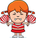 Angry Cartoon Cheerleader Stock Image