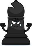 Angry Cartoon Chess Bishop Stock Image