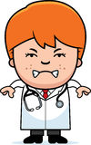 Angry Cartoon Child Doctor Stock Photo