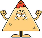 Angry Cartoon Chips and Salsa Royalty Free Stock Photo