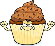 Angry Cartoon Chocolate Cupcake Royalty Free Stock Photos
