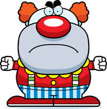 Angry Cartoon Clown. A cartoon illustration of a clown looking angry Stock Photo