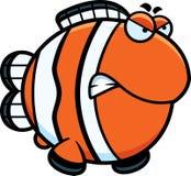 Angry Cartoon Clownfish Royalty Free Stock Photo