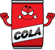 Angry Cartoon Cola Can Stock Images