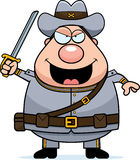 Angry Cartoon Confederate Soldier Royalty Free Stock Photography