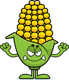 Angry Cartoon Corn Royalty Free Stock Photo