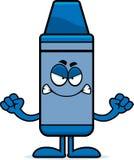 Angry Cartoon Crayon Stock Photography