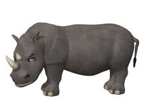 Angry cartoon 3d rhino Royalty Free Stock Photography