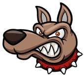 Angry cartoon dog royalty free illustration