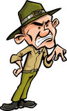 Angry cartoon drill sergeant Stock Images