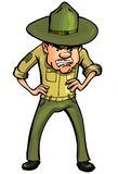 Angry cartoon drill sergeant Stock Photos