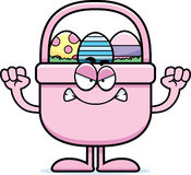 Angry Cartoon Easter Basket Royalty Free Stock Photo