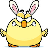 Angry Cartoon Easter Bunny Chick Royalty Free Stock Image