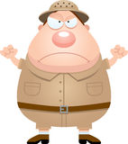 Angry Cartoon Explorer Stock Images