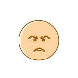 Angry Cartoon Face Negative People Emotion Icon. Vector Illustration vector illustration