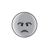 Angry Cartoon Face Negative People Emotion Icon. Vector Illustration stock illustration