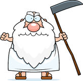 Angry Cartoon Father Time Royalty Free Stock Photo