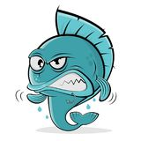 Angry cartoon fish. Clipart of an angry cartoon fish vector illustration