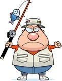 Angry Cartoon Fisherman Stock Photos