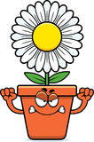 Angry Cartoon Flowerpot Royalty Free Stock Photos