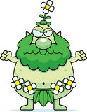 Angry Cartoon Forest Sprite Stock Image