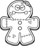 Angry Cartoon Gingerbread Zombie Royalty Free Stock Photo