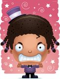 Angry Cartoon Girl Magician. A cartoon illustration of a girl magician looking angry Royalty Free Stock Photography