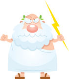 Angry Cartoon Greek God. A cartoon illustration of an ancient Greek god looking angry Royalty Free Stock Image